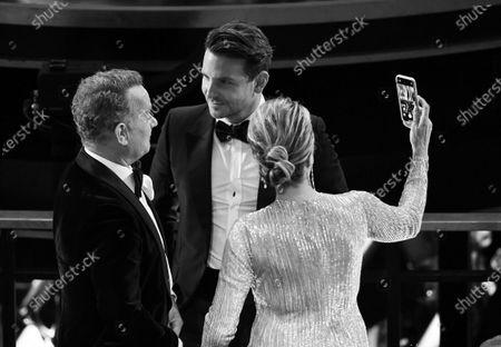 Stock Image of Tom Hanks, Bradley Cooper and Rita Wilson
