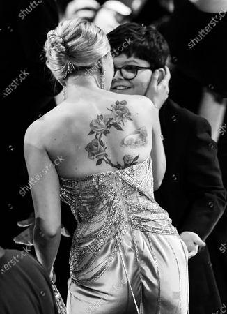 Scarlett Johansson and Archie Yates