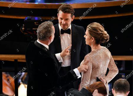 Tom Hanks, Bradley Cooper and Rita Wilson