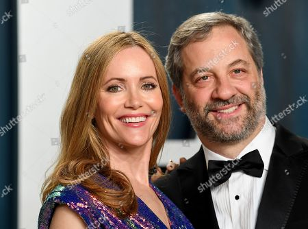 Stock Picture of Leslie Mann and Judd Apatow