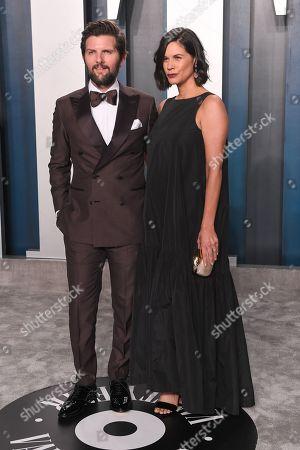 Stock Image of Adam Scott and Naomi Scott