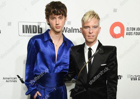 Stock Photo of Troye Sivan and Drew Elliott