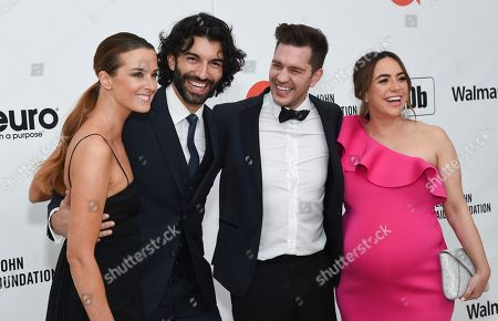 Stock Picture of Emily Baldoni, Justin Baldoni, Andy Grammer and Aijia Grammer