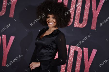 Former Miss France 2017 Alicia Aylies poses during the premiere of 'Judy' by British director Rupert Goold, in Paris,? France, 04 February 2020. The film will be released on 26 February 2020.