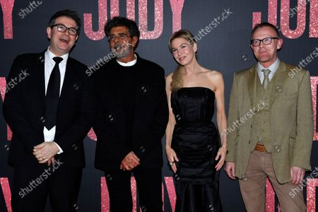Producer David Livingstone, Lebanese-French composer Gabriel Yared, US actress Rene Zellweger and producer Cameron McCracken poses during the premiere of 'Judy' by British director Rupert Goold, in Paris, France, 04 February 2020. The film will be released on 26 February 2020 in France.