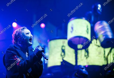 Corey Taylor performs during the concert of the American heavy metal band 'Slipknot' in Papp Laszlo Budapest Sports Arena in Budapest, Hungray, 04 February 2020.