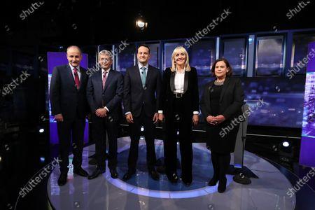 Editorial image of General Election Ireland 2020 TV leaders' debate, Dublin - 04 Feb 2020