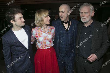 Daniel Radcliffe (Clov/A), Jane Horrocks (Nell), Alan Cumming (Hamm/B) and Karl Johnson (Nagg)