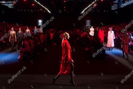 Editorial photo of Juan Vidal show, Runway, Autumn Winter 2020, Mercedes-Benz Fashion Week, Madrid, Spain - 01 Feb 2020