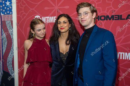 Morgan Saylor, Morena Baccarin and Jackson Pace