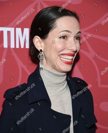 """Rebecca Hall attends Showtime's """"Homeland"""" eighth and final season premiere at the Museum of Modern Art, in New York"""