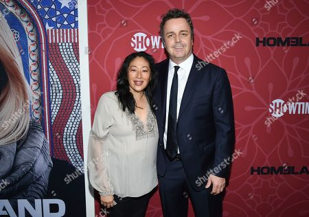 "Stock Image of Sean Callery and guest attend Showtime's ""Homeland"" eighth and final season premiere at the Museum of Modern Art, in New York"