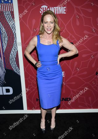 """Amy Hargreaves attends Showtime's """"Homeland"""" eighth and final season premiere at the Museum of Modern Art, in New York"""