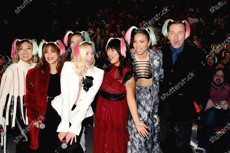 Stock Picture of Cathy Yan, Rosie Perez, Margot Robbie, Ella Jay Basco, Jurnee Smollett-Bell, Ewan McGregor