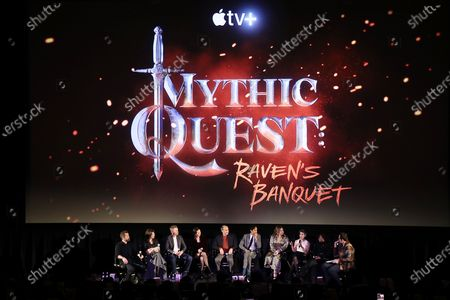 Editorial picture of The cast and Executive Producers of Mythic Quest: Raven's Banquet attend a fan screening at the Alamo Drafthouse Cinema, Downtown Brooklyn. The series launches on Apple TV+ on February 7, New York, USA - 04 Feb 2020