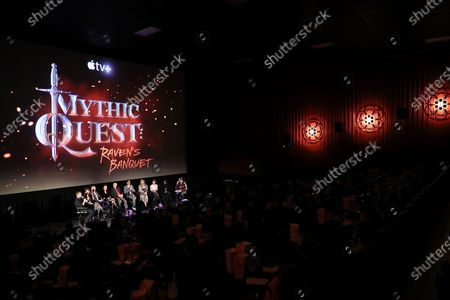 Editorial image of The cast and Executive Producers of Mythic Quest: Raven's Banquet attend a fan screening at the Alamo Drafthouse Cinema, Downtown Brooklyn. The series launches on Apple TV+ on February 7, New York, USA - 04 Feb 2020