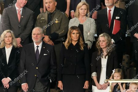Political commentator Rush Limbaugh, and First Lady Melania Trump, are seen during the 2020 State of the Union Address on Capitol Hill.