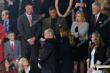 American radio personality Rush Limbaugh is applauded at the 2020 State of the Union Address on Capitol Hill.