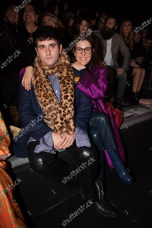 Editorial image of Roberto Diz show, Front Row, Autumn Winter 2020, Mercedes-Benz Fashion Week, Madrid, Spain - 29 Jan 2020