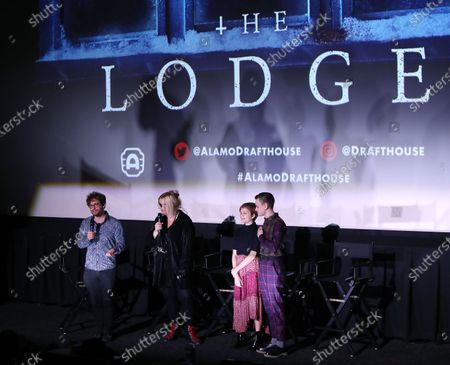 Severin Fiala, Veronika Franz (Co-Directors), Lia McHugh and Jaeden Lieberher