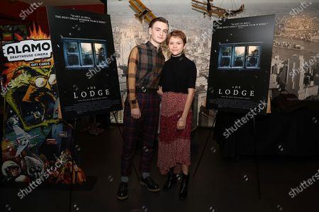 Jaeden Lieberher and Lia McHugh