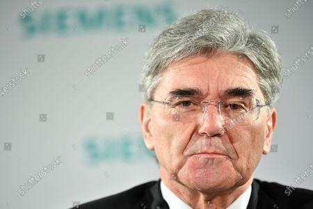 Siemens CEO Joe Kaeser speaks during the Siemens AG Annual Shareholders' Meeting in Munich, Germany, 05 February 2020.
