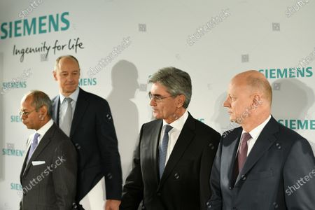 Stock Image of (L-R) Co-CEO Gas and Power Siemens Gamesa Renewable Energy, Michael Sen, Siemens COO Roland Busch, Siemens CEO Joe Kaeser and Siemens CFO Ralf Peter Thomas arrive for the Siemens AG Annual Shareholders' Meeting in Munich, Germany, 05 February 2020.