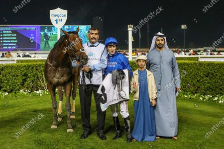 BENBATL (GB) ridden by Christophe Soumillion wins the 9.5F Group 2 the Al Maktoum Challenge Round 2, race 5,  at Meydan Dubai World Cup Carnival.