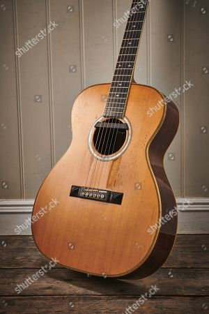 Stock Picture of A Vintage 1985 Bown Om Acoustic Guitar Previously Owned By English Guitarist John Renbourn