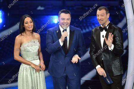 Rula Jebreal, Tiziano Ferro, tv presenter Amadeus