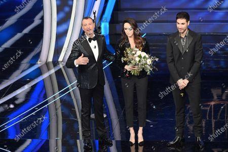 Tv presenter Amadeus, Gessica Notaro, Antonio Maggio