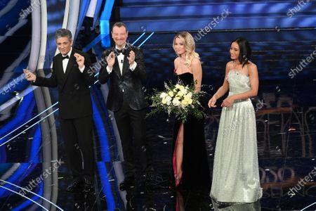 Fiorello, tv presenter Amadeus, Diletta Leotta, Rula Jebreal
