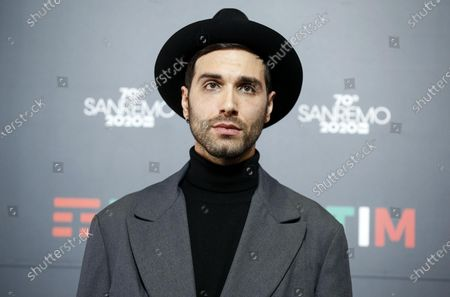 Stock Photo of Antonio Maggio poses during a photocall at the 70th Sanremo Italian Song Festival, Sanremo, Italy, 05 February 2020. The festival runs from 04 to 08 February.