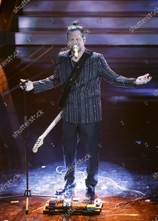 Enrico Nigiotti performs on stage at the Ariston theatre during the 70th Sanremo Italian Song Festival, Sanremo, Italy, 05 February 2020. The festival runs from 04 to 08 February.