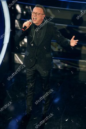Gigi D'Alessio performs on stage at the Ariston theatre during the 70th Sanremo Italian Song Festival, Sanremo, Italy, 05 February 2020. The festival runs from 04 to 08 February.