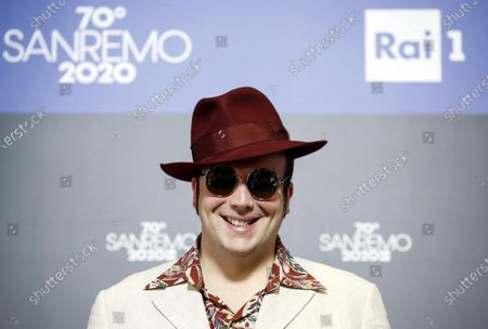 Raphael Gualazzi poses during a photocall at the 70th Sanremo Italian Song Festival, Sanremo, Italy, 05 February 2020. The festival runs from 04 to 08 February.