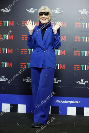 Caterina Caselli poses during a photocall at the 70th Sanremo Italian Song Festival, Sanremo, Italy, 05 February 2020. The festival runs from 04 to 08 February.