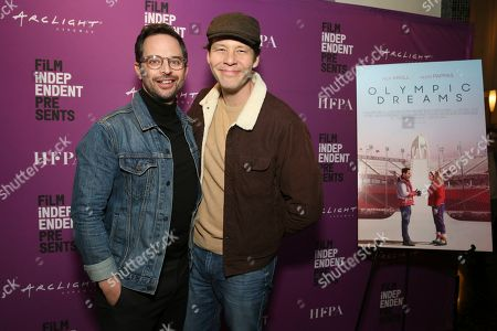 """Nick Kroll, Ike Barinholtz. Nick Kroll and Ike Barinholtz seen at the special screening of """"Olympic Dreams"""" at the ArcLight Hollywood, in Los Angeles"""