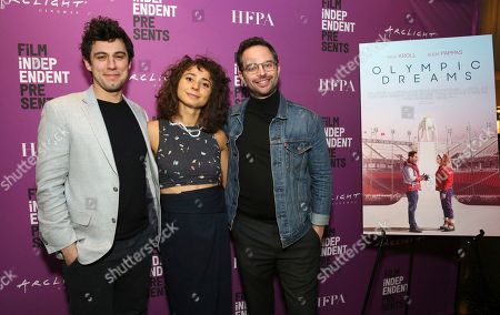 """Jeremy Teicher, Alexi Pappas and Nick Kroll seen at the special screening of """"Olympic Dreams"""" at the ArcLight Hollywood, in Los Angeles"""