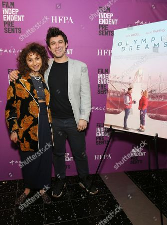 """Alexi Pappas, Jeremy Teicher. Alexi Pappas and director/writer Jeremy Teicher seen at the special screening of """"Olympic Dreams"""" at the ArcLight Hollywood, in Los Angeles"""