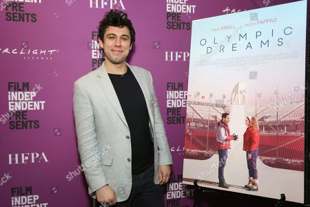 """Jeremy Teicher seen at the special screening of """"Olympic Dreams"""" at the ArcLight Hollywood, in Los Angeles"""