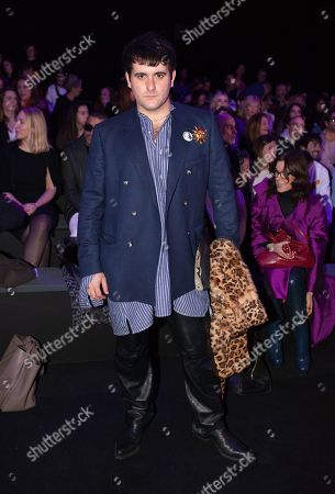 Editorial photo of Andres Sarda show, Front Row, Autumn Winter 2020, Mercedes Benz Fashion Week, Madrid, Spain - 29 Jan 2020