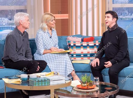 Phillip Schofield and Holly Willoughby with Marc Almond