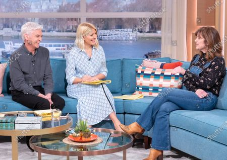 Phillip Schofield and Holly Willoughby with Siobhan Finneran