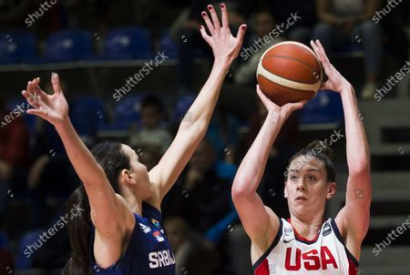Breanna Stewart of USA shoots for three points