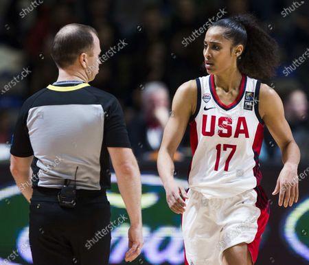 Editorial image of USA v Serbia, FIBA Women's Olympic Qualifying Tournament, Basketball, Stark Arena, Belgrade - 06 Feb 2020