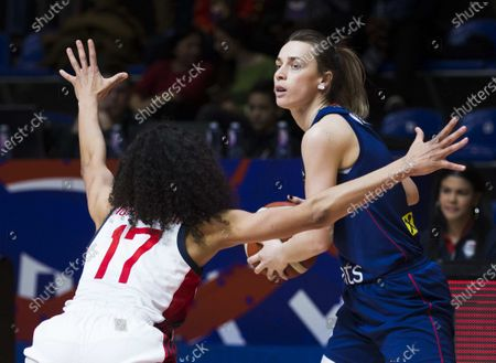 Stock Picture of Nevena Jovanovic of Serbia competes against Skylar Diggins of USA