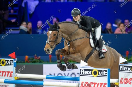 AMSTERDAM, NETHERLANDS - : Ryoji Takada of Japan riding Quickchin WH Z at Grand Prix of Amsterdam - Jumping Amsterdam on in Amsterdam. (Photo by Thomas Reiner/ESPA-Images)