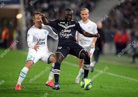 Valentin Rongier of Marseille and Youssouf Sabaly Girondins of Bordeaux