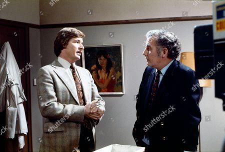 William Roache (as Ken Barlow) and Alan Browning (as Alan Howard)